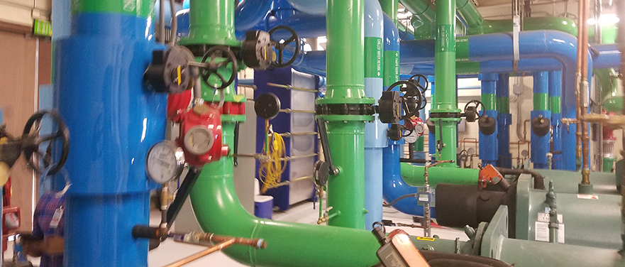 SRP chiller piping
